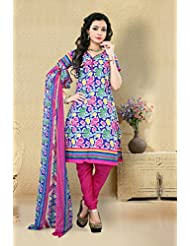 Alethia Multicolor Color Casual Wear Printed Cotton Un-Stitched Dress Material
