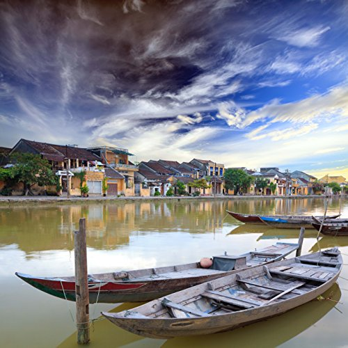 500 Piece Jigsaw Puzzle: Hoi An Boats in the foreground Vietnam (1000 Piece Personal Photo Puzzle compare prices)