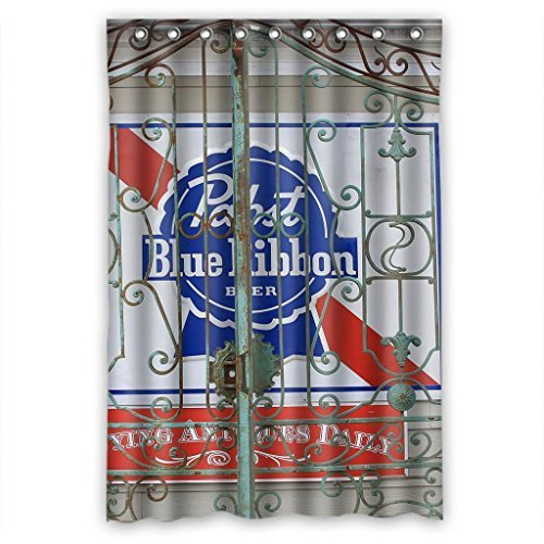 colorful-pabst-blue-ribbon-durable-fabric-shower-curtain-measure-48wx72h