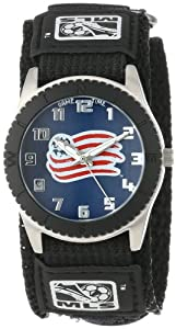 Game Time Mens MLS-ROB-NE New England Revolution Rookie Black Round Analog Watch by Game Time