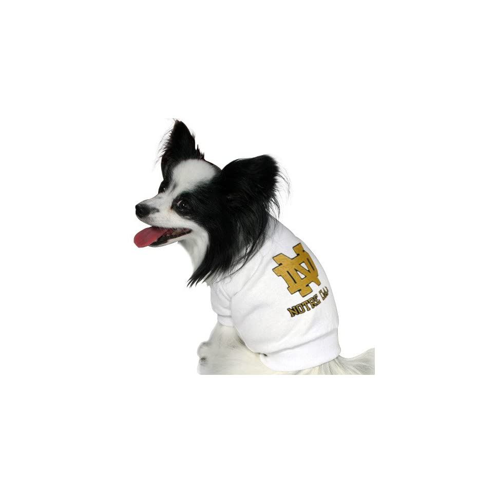 Notre Dame Fighting Irish White Dog T shirt