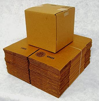 4x4x4 Shipping Packing Moving Box (25) 200/C (30% Stronger than 32/C) UPS and FEDEX Preferred