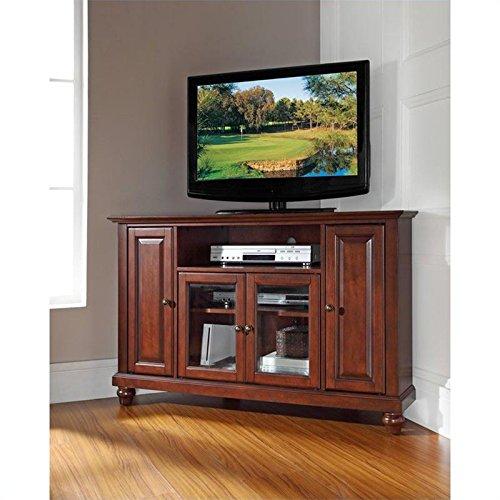 Crosley Furniture Cambridge 48-Inch Corner TV Stand, Vintage Mahogany image
