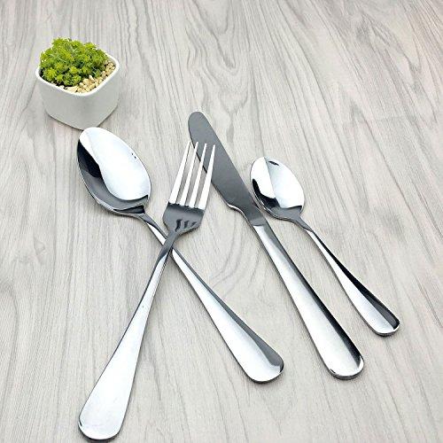 Cutlery,Home Use Stainless Steel Western Tableware 4-Piece Dinnerware Set knife fork spoon teaspoon by Alytimes