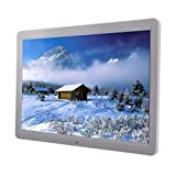 MicroMall 15-Inch 1280x800 High Resolution LED Digital Photo Frame MP3 and HD Video Player with Remote Controller (White)