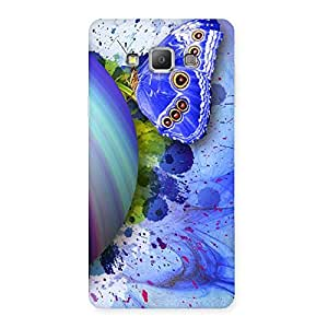 Impressive Premier Blue Shell Butterfly Multicolor Back Case Cover for Galaxy A7