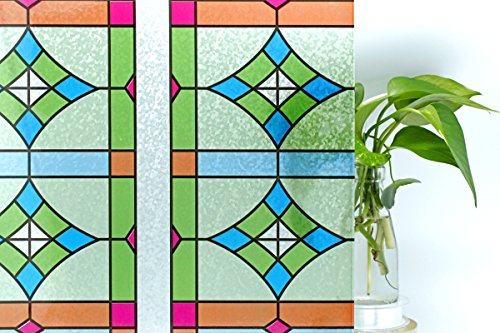 cottoncolors inches 3d static decorative privacy window film reuseable film for heat. Black Bedroom Furniture Sets. Home Design Ideas