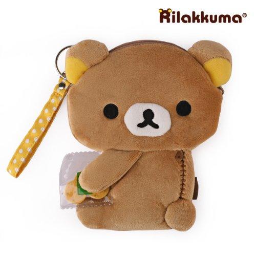 San-X Rilakkuma Plush Doll Multi Purpose Pouch (Rilakkuma)