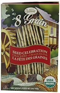 Venus 8-Grain Organic Flatbread, Seed Celebration 5-Ounce Boxes (Pack of 12)