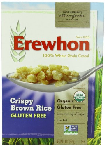 Erewhon Crispy Brown Rice Cereal, Gluten Free, Organic, 10-Ounce Boxes (Pack of 6) (Rice Crispy Gluten Free compare prices)