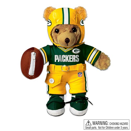 The Green Bay Packers Coaching Teddy Bear: Educational Huggable Plush Toy For Age 3 And Up by Ashton Drake