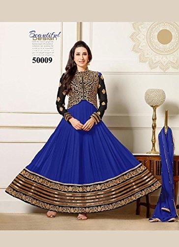 Suchi Men Georgette Dress Material (Sfham10453 _Black _10)