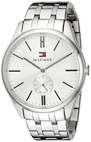 Tommy-Hilfiger-Mens-1791172-Analog-Display-Quartz-Silver-Watch