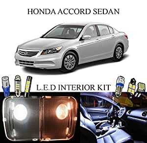 2009 Honda Accord Xenon White Led Interior Package Vanity Lights 12 Pieces