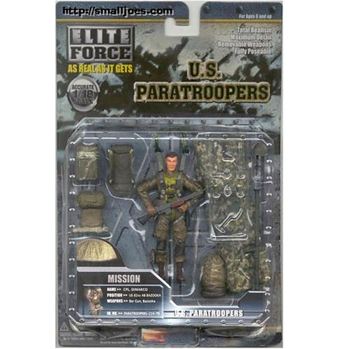 Buy Low Price Blue Box Elite Force U.S. Paratroopers – CPL Dimarco Figure (B000OHDB5K)