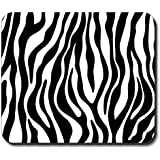 Zebra Print - Black & White Mouse Pad