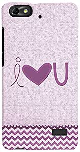 PrintVisa I Love You Case Cover for Huawei Honor 4C