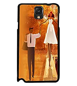Printvisa Bride And Groom In Orange Background Back Case Cover for Samsung Galaxy Note 3 N9000::Samsung Galaxy Note 3 N9002::Samsung Galaxy Note 3 N9005 LTE