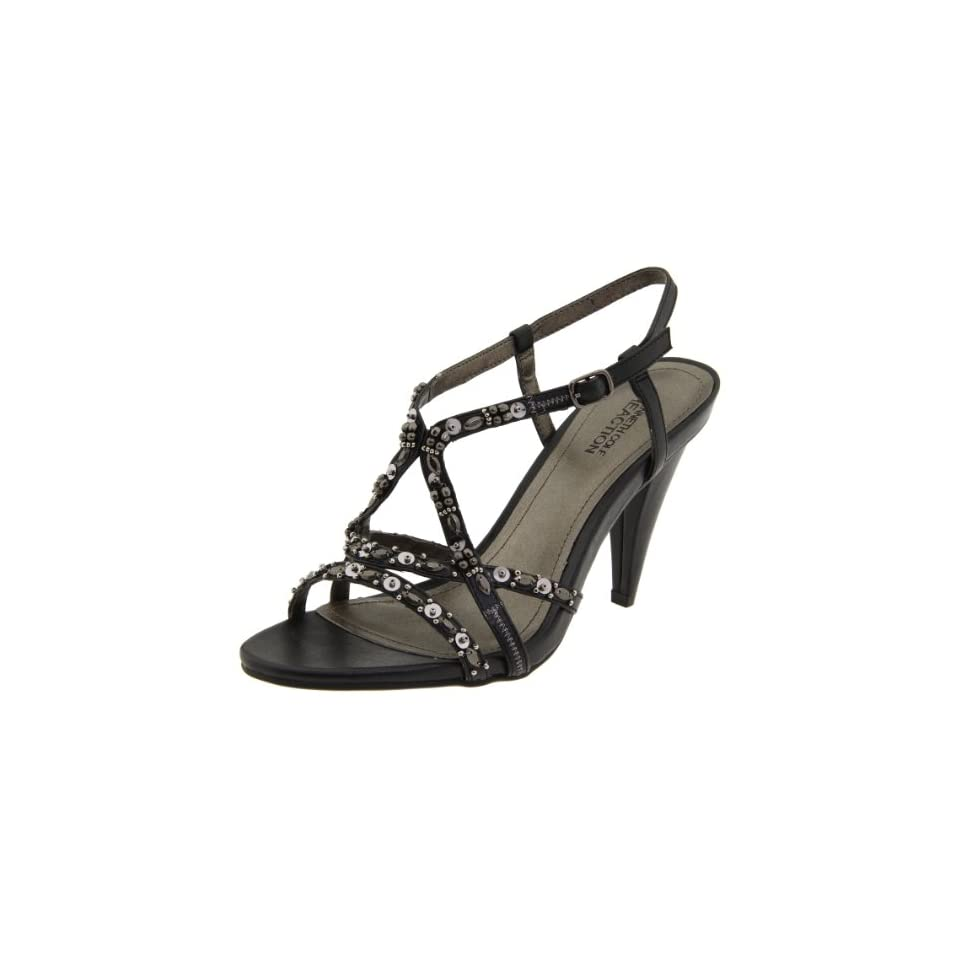 Kenneth Cole REACTION Womens Oh Know U Didnt Ankle Strap Sandal,Black,5 M US