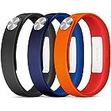Sony Mobile Large A1 SmartBand Wrist Straps - Orange/Blue/Black
