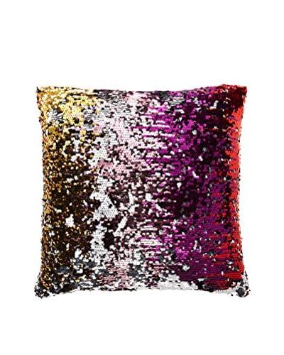 Aviva Stanoff Design Sequined Mermaid Throw Pillow, Disco/Silver