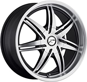 PLATINUM – type 204 mantis – 17 Inch Rim x 7.5 – (5×100/5×4.5) Offset (48) Wheel Finish – diamond cut face with black accents