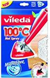 Vileda 146576 100°C Hot Spray Panno Ricambio in Microfibra Compatibile con i Lavapavimenti 100°C Hot Spray e Steam, 2 Pezzi