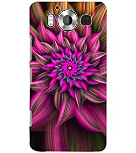 PrintDhaba PINK FLOWER D-6785 Back Case Cover for MICROSOFT LUMIA 950 (Multi-Coloured)