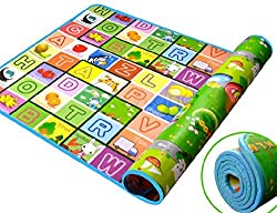 Waterproof Soft And Sturdy Imported Double Side Baby Play Crawl Mat For Infant, Toddlers, Baby, Kids Safety Play