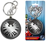 The Avengers Assemble Marvel Agents of Shield Eagle Logo Metal Pewter Key Chain