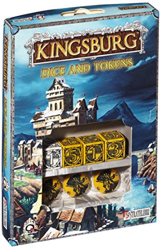 Q-Workshop Dice Set: Kingsburg Dice (d6) and Tokens - YELLOW