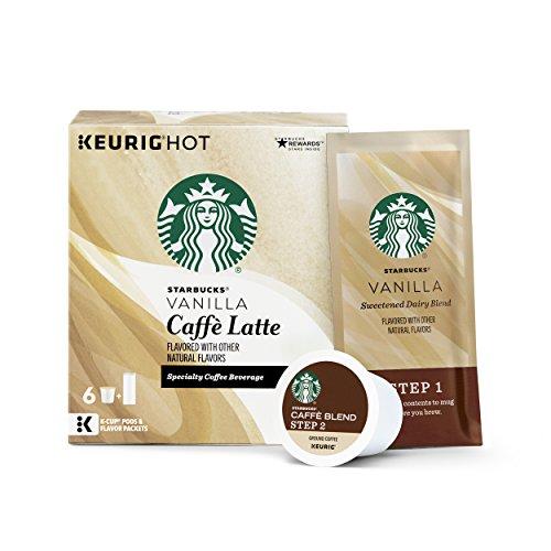 Starbucks Coffee Keurig K-Cup Pods, Vanilla Caffè Latte, 4 Boxes of 6 (24 Total K-Cup Pods) (Keurig Capsules Starbucks compare prices)