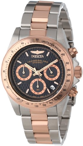 Invicta Men's 6932 Speedway Professional Collection Chronograph 18k Rose Gold-Plated and Stainless Steel Watch