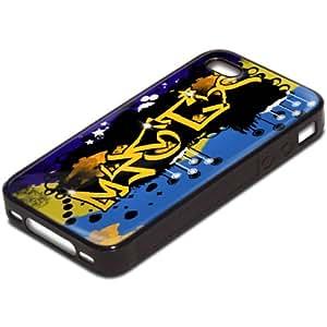 Amazon.com: Graffiti 10074, Black Silicone Hybrid Case Cover Protector