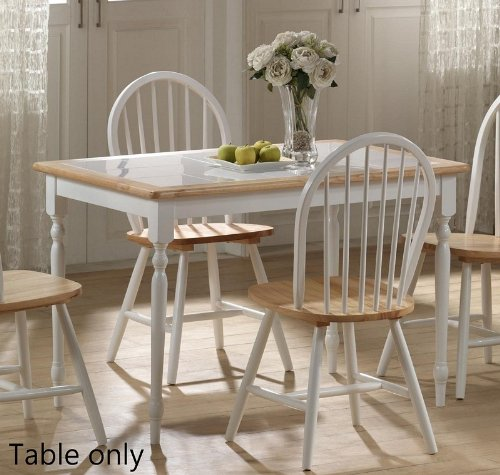 Dining Table Sets On Sale Boraam 30 X 45 Tile Top Wood Dining Table In White And Natural For 117 84