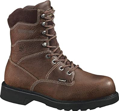 Wolverine Mens Tremor DuraShocks Safety Brown Leather Boot 7 EW US