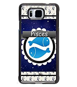 Fuson 2D Printed Sunsign Pisces Designer back case cover for SAMSUNG GALAXY ALPHA G850 - D4433