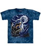 The Mountain Mens Wolf Spirit Moon Short Sleeve Tee