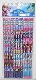 Licensed Disney Frozen® Pencils w/erasers Elsa, Anna, Olaf-12 pcs