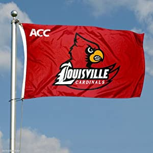 Buy Louisville Cardinals ACC 3x5 Flag by College Flags and Banners Co.