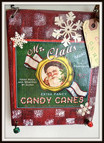 christmas-santa-candy-cane-primitive-hanging-sign-free-shipping