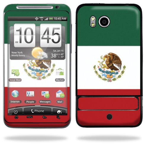 Mightyskins Protective Vinyl Skin Deca Cover for HTC Thunderbolt 4G Verizon Cell Phone wrap sticker skins - Mexican Flag