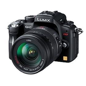 Panasonic デジタル一眼レフカメラ LUMIX GH1 レンズキット コンフォートブラック DMC-GH1K-K