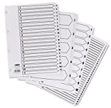 Concord Classic Index Mylar reinforced Punched 4 Holes 1 10 A4 White Ref