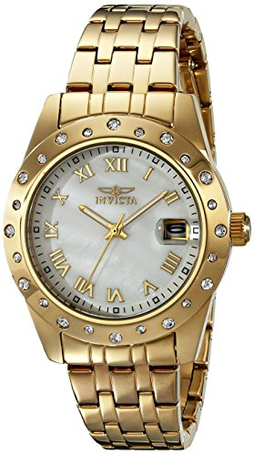Invicta 17488 36mm Gold Steel Bracelet & Case flame fusion Women's Watch
