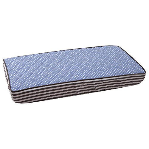 Elephants Blue/Grey Blue pin dots Changing Pad Cover - 1