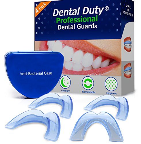 Professional-Dental-Guard-4pack-Stops-Teeth-Grinding-Bruxism-Tmj-Eliminates-Teeth-Clenching-All-Orders-includes-Fitting-Instructions-Anti-Bacterial-Case-100-Satisfaction-Is-guaranteed