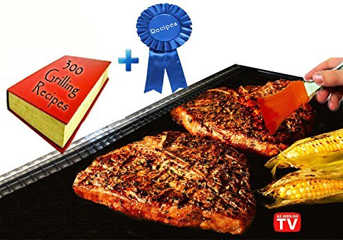 Cool Stuff 4U BBQ Grill Mats with E-Book and Basting Brush