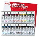 リキテックス アクリル 絵の具 リキテックスカラー レギュラータイプ 6号チューブ 24色セット ミキシング