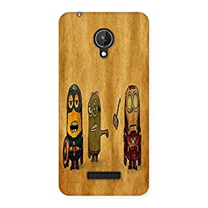 Ajay Enterprises Fill Heroes Friends Back Case Cover for Micromax Canvas Spark Q380